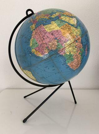 Globe vintage 1960 terrestre Girard Barrère - 32 cm