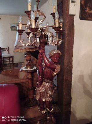 Lampadaire porte torchère nubien