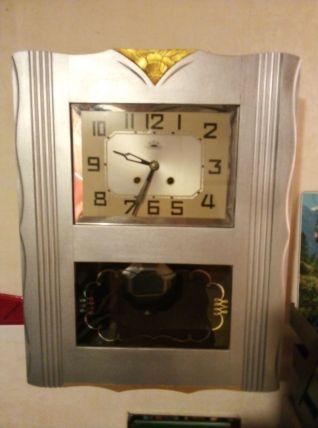 Horloge années 50 Morbier relookée