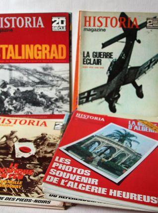 Lot 31 Historia magazine surtout guerre d'Algérie.