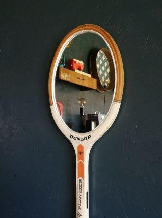 """Miroir mural raquette miroir ovale tennis """"Dunlop Pioneer"""""""