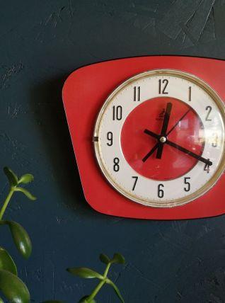 """Horloge formica pendule murale silencieuse """"Jaz Rouge"""""""