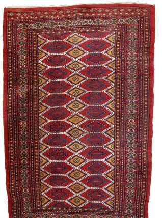 Tapis vintage Ouzbek Bukhara fait main, 1C726