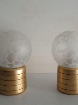 Paire de lampes de chevet revisitées