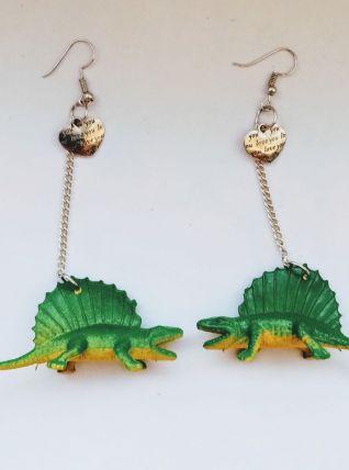 Boucles d'oreilles dinosaure, boucles d'oreilles Spinosaurus