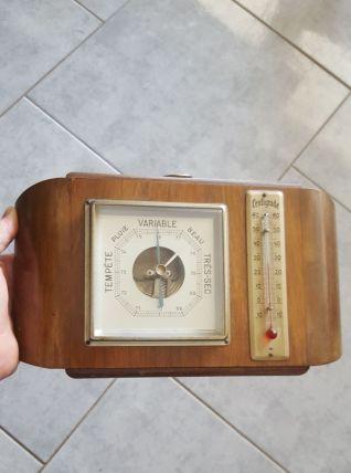 Ancien baromètre et thermomètre 1900