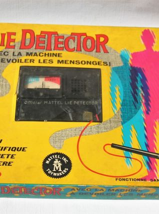 LIE DETECTOR  MATTEL. Jeu vintage. Années 60.
