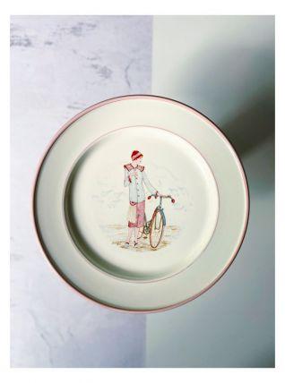 Jolie assiette vintage de la manufacture italienne La Primul