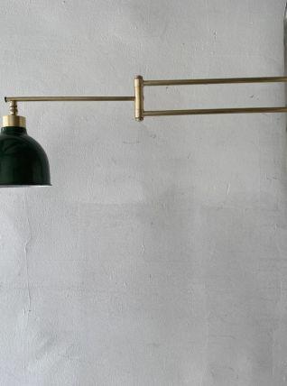 ANCIENNE LAMPE APPLIQUE POTENCE 2 BRAS VINTAGE