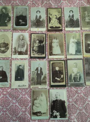 LOT RARE de 26 CDV fin 1800 cartes de visite