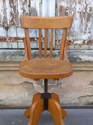 Chaise tournante estampillé baumann