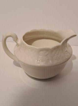 Pot à lait Porcelaine blanche Anglaise Royale Cauldron