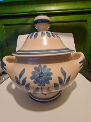 Soupière en Céramique de Longchamp décor floral