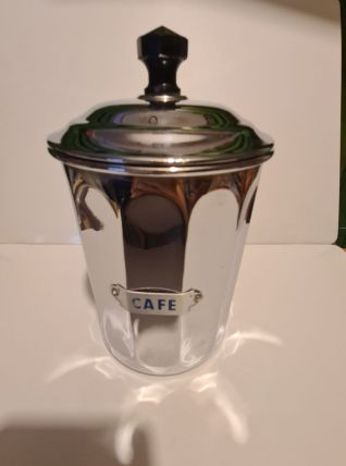 Pot à café en cuivre chromé marque déposé