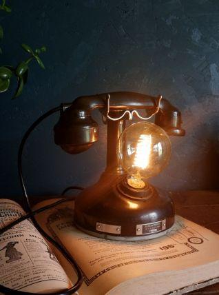 """Lampe vintage métal noir téléphone """"Trésor des années 20"""""""
