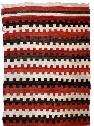 Tapis ancien Américain Navajo fait main, 1B872