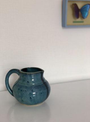 La cruchette bleu en grès