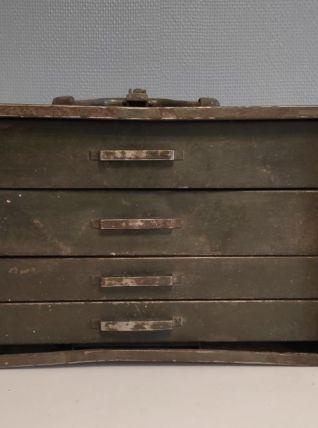 boite à outils ancienne métal