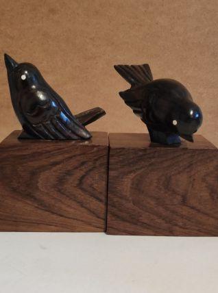 serre-livres oiseaux art-déco