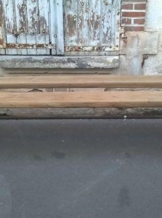 ancienne paire de banc chêne massif