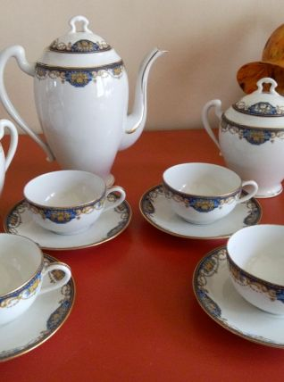 Service à thé Art déco Porcelaine de Limoges BERNARDAUD