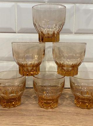 Set de 6 verres vintage