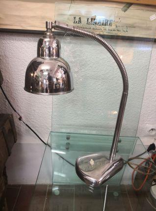 Lampe de Bureau Vintage Chromée avec Tige