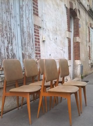 5 chaises style scandinave