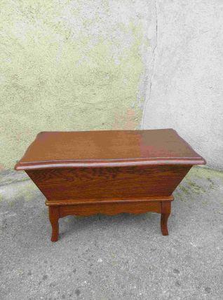 Coffre pétrin musical en bois vintage