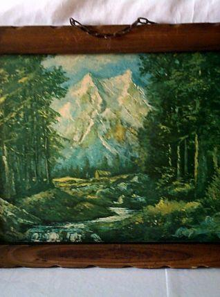 Tableau paysage montagne