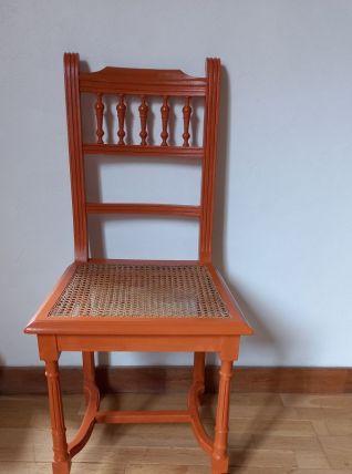 Chaise orange cannage