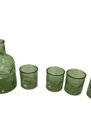 4 verres & 1 carafe vintage 1970