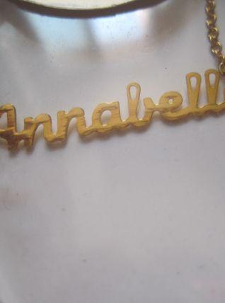 collier prénom ANNABELLE