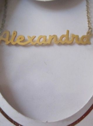 collier prénom ALEXANDRA