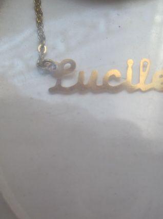 collier prénom  LUCILE