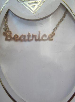 collier prénom BREATRICE