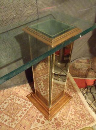 Console vintage verre et miroir année 70.