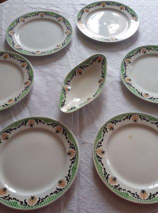 Assiettes plates Sarreguemines