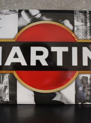 Plaque en métal Martini