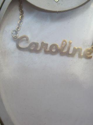 collier prénom CAROLINE
