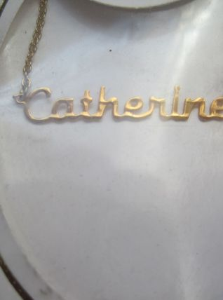 collier prénom  CATHERINE