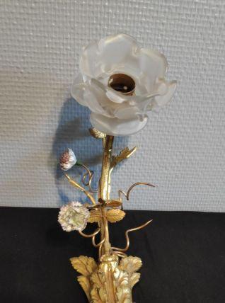 applique fleurs en bronze art déco