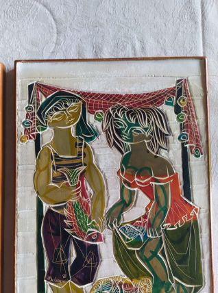 TABLEAUX DE JP DE CAYEUX 1958 ST TROPEZ