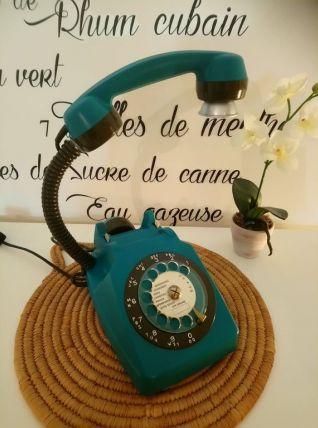 LAMPE À POSER RECYCLAGE TÉLÉPHONE VINTAGE '81