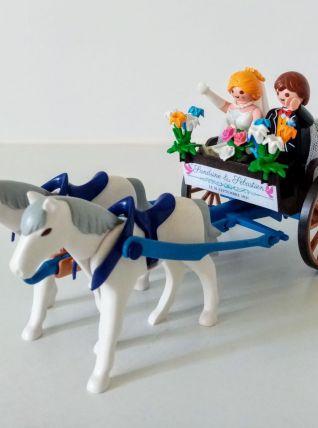 Décor de mariage Playmobil pour gâteau, table, personnalisé