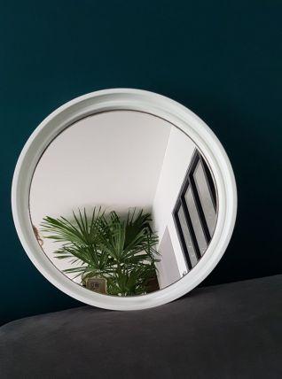 Miroir rond blanc Gilac 40cm