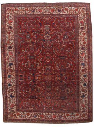 Tapis ancien Persan Sultanabad fait main, 1B458