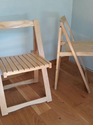 Chaises pliantes, ensemble de deux