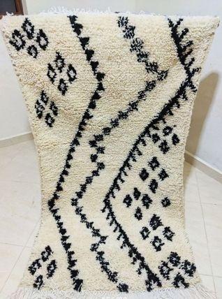 156x88cm Tapis berbere marocain