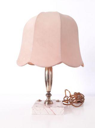 Lampe de chevet en Laiton et marbre rose